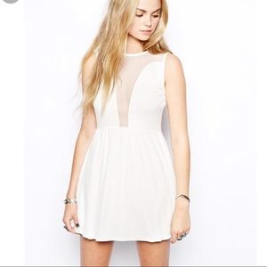 For Love & Lemons Dress With Mesh Accents